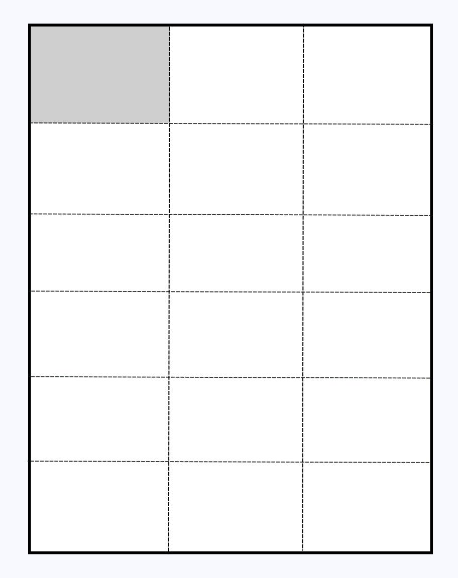 perforated shelf talker sheet template