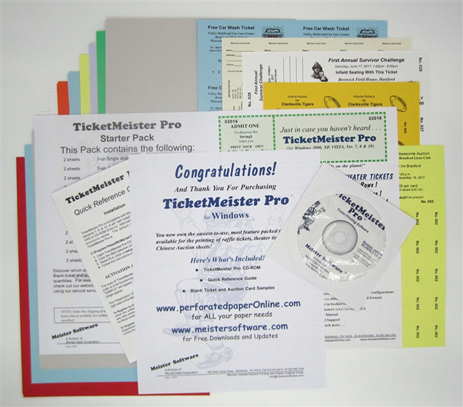 raffle ticket and silent auction printing software