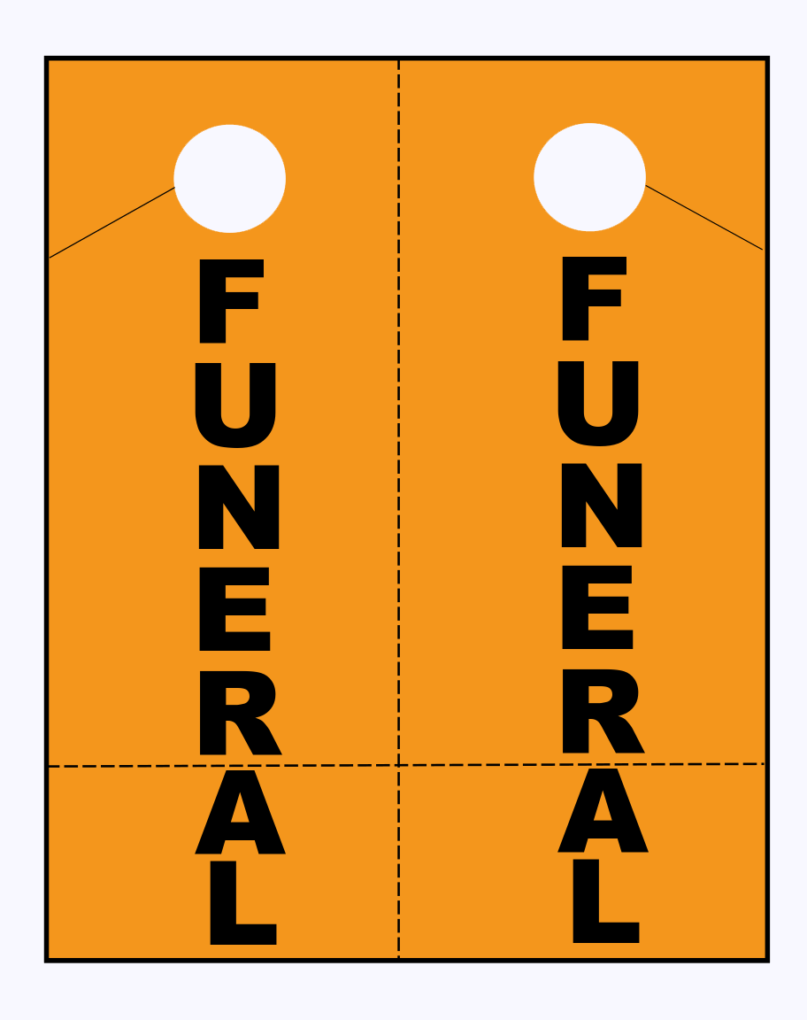 funeral car hanger sheets
