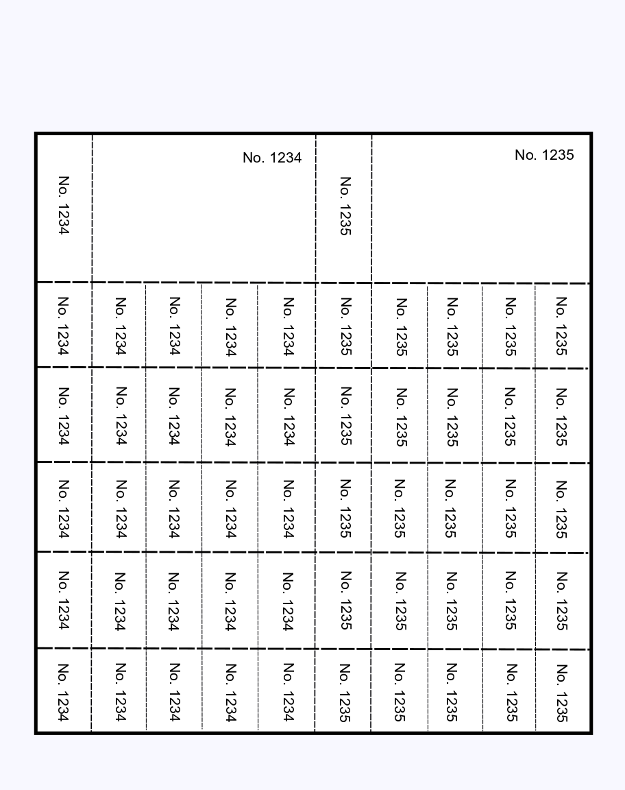 perforated silent auction card template